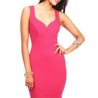 Sugar Plunge Bodycon Dress
