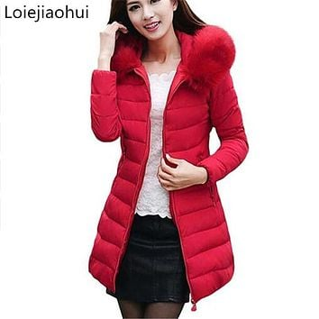 Womens Winter Jackets And Coats 2017 Thick Warm Hooded Down Cotton Padded Parkas For Women's Winter Jacket Female Manteau Femme