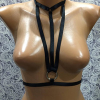 Sexy Harness, Fetish Harness, Women Harness, Sexy Costume, Dance Wear, Body Harness, Handmade Harness, BDSM Harness Exotic Dancewear, Erotic