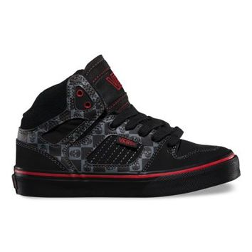 Vans Kids Allred (Checker Skulls black/red)