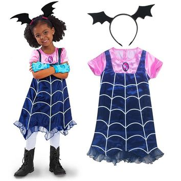 2018 new summer Lace Dress Elsa dress Cosplay Fantasy Dresses Clothing Girls Vampirina Costume Little Girls Advanture Outfit