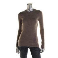 Hayden Womens Ribbed Cashmere Pullover Sweater