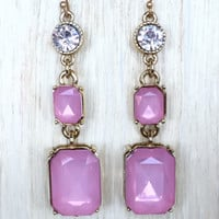 Pink Morrison Crystal Earrings