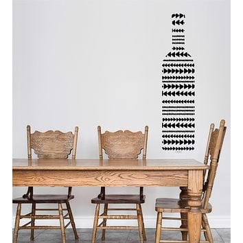 Wall Vinyl Decal Wine Bottle Painted Ornament Alcohol Bar Restaurant Decor Unique Gift z4770