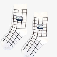 Got Milk Grid Socks