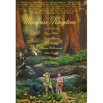 moonrise kingdom poster Metal Sign Wall Art 8in x 12in