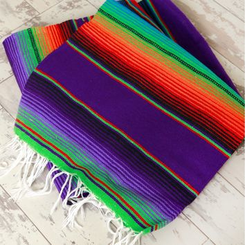 Mexican Falsa Blanket Vibrant Multi