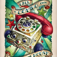 """The Call is Coming from Inside the House"" Art Print by Tim Shumate"