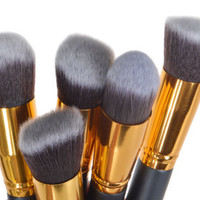10pcs Superior Professional Soft Make Up Brush Set