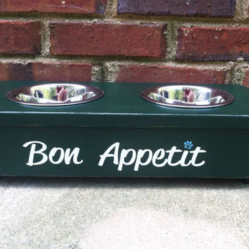 Country French pet bowl stand  Personalized  Extra Small Shabby