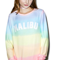 Wildfox Couture Malibu Sunscreen Baggy Beach Jumper Multi