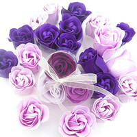 Mother's Day rose basket, Charming Rose Scent Bath Bomb, Nine Colorful Rose Flower with Heart Gift Box. 3dark+3all