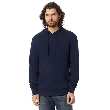 Alternative Apparel - Challenger Washed French Terry Pullover Navy Hoodie