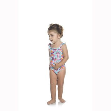ONDADEMAR BABY GIRLS VERBENA STRUCTURED ONE PIECE SWIMWEAR