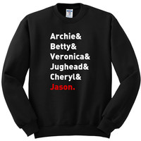 "Riverdale ""Archie & Betty & Veronica & Jughead & Cheryl & Jason"" Crewneck Sweatshirt"