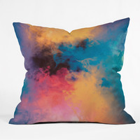 Caleb Troy Golden Virus Throw Pillow