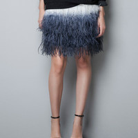 SKIRT WITH TIE DYE FEATHERS - Skirts - Woman - ZARA United States