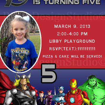 Avengers SuperHero Birthday Invitation - Printable