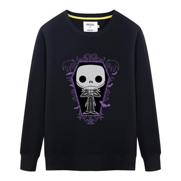 New Autumn Mens Sweatshirt Men/Boy Fashion Nightmare Before Christmas Jack Skellington Male long Sleeve Hoodies Pullover