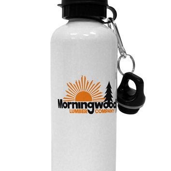 Morningwood Company Funny Aluminum 600ml Water Bottle by TooLoud