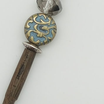 Hair stick barrette, decorative hair sticks, asian hair sticks, oriental hair sticks, wooden hair sticks for any occasion