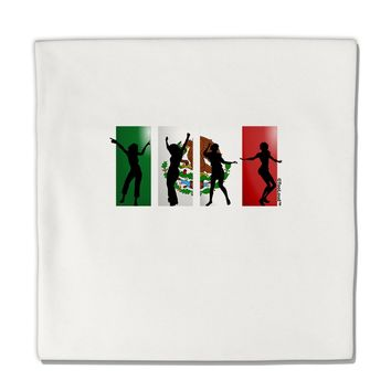 "Mexican Flag - Dancing Silhouettes Micro Fleece 14""x14"" Pillow Sham by TooLoud"
