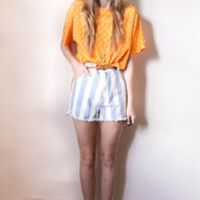 tea and tulips boutique - one of a kind vintage. — pinstripe shorts