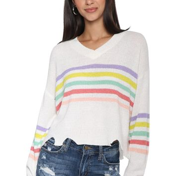 Sunday Stevens Multi Stripe Sweater