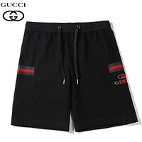 GUCCI New fashion embroidery stripe letter couple shorts Black