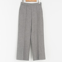 Simple Herringbone Trouser, Charcoal
