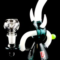 Small Stemless GoG Water Pipe with Pass-Thru Stem - WP1066