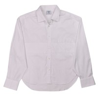 Vetements Womens White Cotton Button Down Shirt Blouse