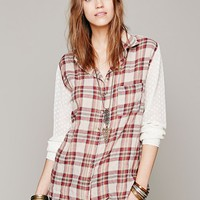 Clip Dot Plaid Buttondown