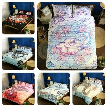 Elephant Bohemian Mandala Bedding Kids Duvet Cover  Bedroom Set Beddings And Bed Sets Literie Bed Cover Boho Indian Symbol Bed F