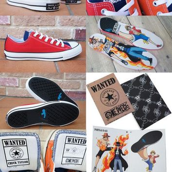 "One Piece x Converse All Star 100 MC OX Low Sneaker ""Red&Blue"" 1CK955"