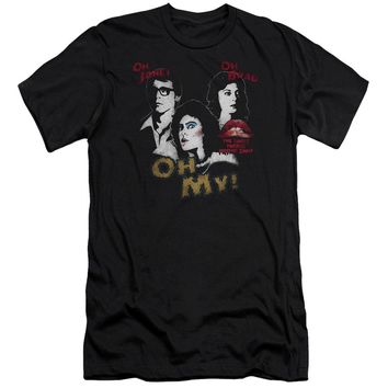Rocky Horror Picture Show - Oh 3 Ways Premium Canvas Adult Slim Fit 30/1 Shirt Officially Licensed T-Shirt