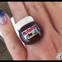 Nutella Inspired Ring - Chocolate - Kawaii Miniature Ring