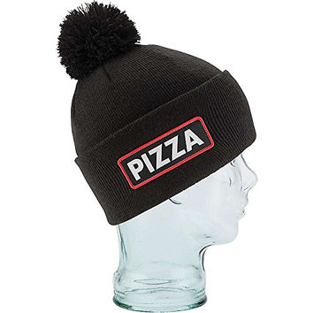 Coal Men's Vice Pizza Beanie, Black (Pizza), One Size