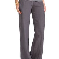 So Low Foldover Wide Leg Pant in Gunmetal from REVOLVEclothing.com