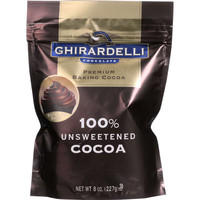 Ghirardelli Baking Cocoa - Premium - 100 Percent Unsweetened - 8 oz - case of 6
