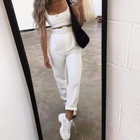 Valeria High-Waisted & Belted Trousers