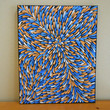 Abstract Painting Blue and Orange Aboriginal Inspired 16 by Acires