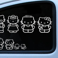Hello Kitty Family Vinyl Decal in multiple different colors Die cut sticker for your car truck