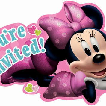 disney minnie mouse bowtique invitations Case of 4
