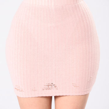 Good Girls Go Bad Skirt - Blush