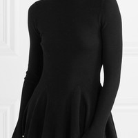 Adam Lippes - Two-tone merino wool turtleneck sweater