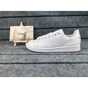Adidas Originals Stan Smith Shoes Junior Version Of Sneakers White / Silver