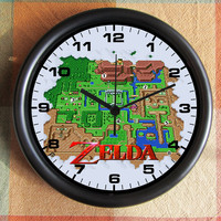 The LEGEND of ZELDA 8 Bit 8 Byte Link Nintendo Video Game World 10 inch Resin Wall Clock  25.00 Geekery