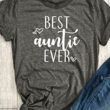 Best Auntie Ever - Heart Print - Family/Aunt - Women's T-shirt