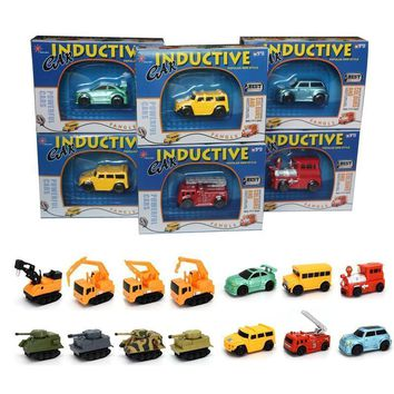 Enlighten Hot Sale 1 Piece Magic Toy Truck Inductive Car Magia Excavator Tank Construction Cars Truck Vehicles Toy Free Shipping